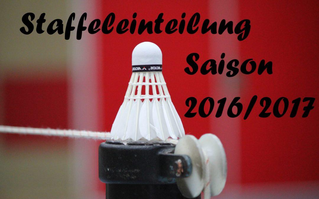 Staffeleinteilung 2016-2017