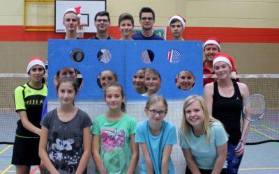 Weihnachtsstimmung beim Badminton