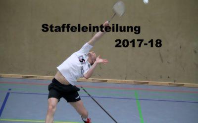 Staffeleinteilung 2017-2018
